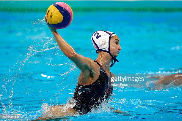 Maddie Musselman of United States in action during the Women's Water Polo Gold Medal Classification match between the United States and Italy on Day...