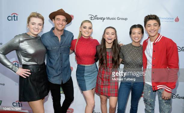Maddie Poppe Morgan Tompkins Meg Donnelly Sky KatzPeyton Lee and Asher Angel attend the 9th annual LA Family Day hosted by the TJ Martell Foundation...
