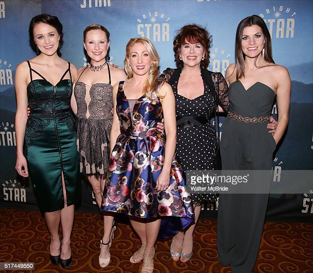Maddie Shea Baldwin Sandra DeNise Sarah Jne Shanks Allison BeinerDardenne attend the 'Bright Star' Opening Night after party at Gotham Hall on March...