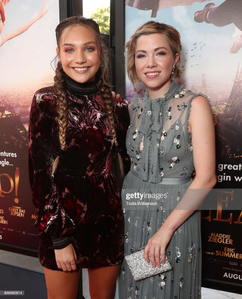 Maddie Ziegler and Carly Rae Jepsen attend the premiere Of The Weinstein Company's 'Leap!' at Pacific Theatres at The Grove on August 19, 2017 in Los Angeles, California.