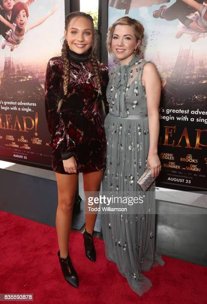 Maddie Ziegler and Carly Rae Jepsen attend the premiere Of The Weinstein Company's Leap at Pacific Theatres at The Grove on August 19 2017 in Los...