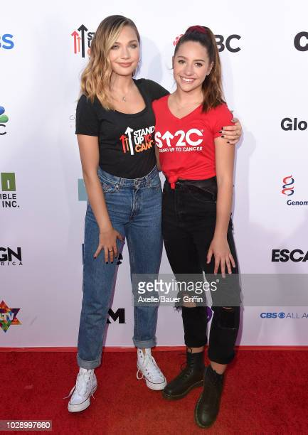 Maddie Ziegler and Mackenzie Ziegler attend the sixth biennial Stand Up To Cancer telecast at the Barker Hangar on Friday, September 7, 2018 in Santa...