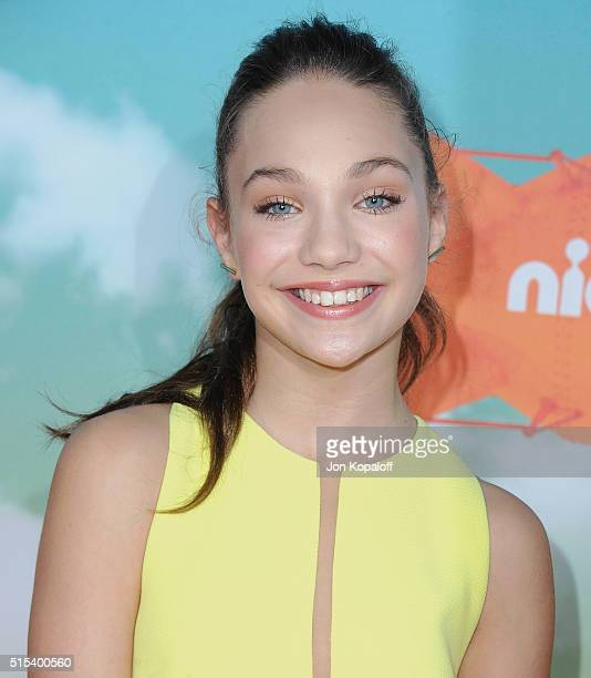 Maddie Ziegler arrives at Nickelodeon's 2016 Kids' Choice Awards at The Forum on March 12 2016 in Inglewood California