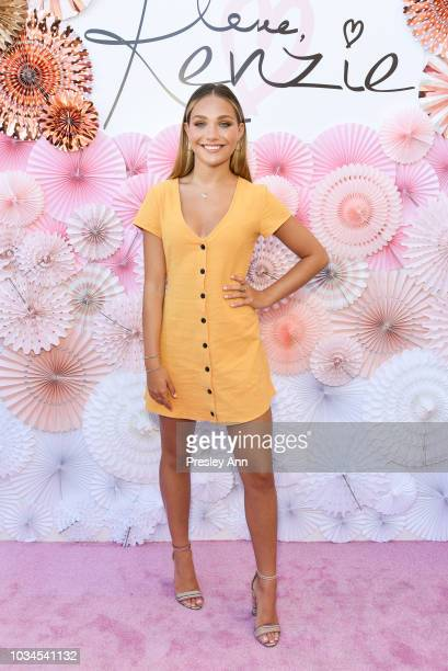 """Maddie Ziegler attends Mackenzie Ziegler Launches New Beauty Line """"Love, Kenzie"""" on September 16, 2018 in West Hollywood, California."""