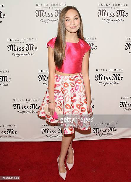 Maddie Ziegler attends the Miss Me and Cosmopolitan's spring campaign launch event on February 3 2016 in West Hollywood California