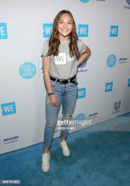 Maddie Ziegler attends WE Day California at The Forum on April 19, 2018 in Inglewood, California.