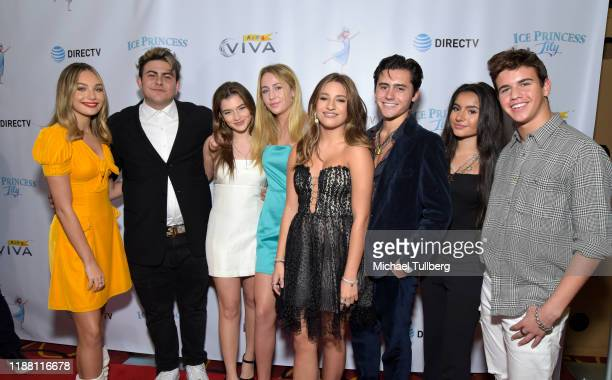 Maddie Ziegler Gio Pilla Lexi Jayde Eden McCoy Mackensie Ziegler Isaak Presley Tati McQuay and Sage Rosen attend the Los Angeles premiere of Ice...