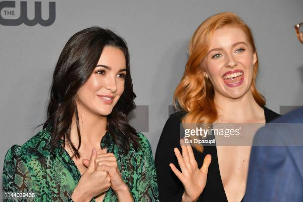 Maddison Jaizani and Kennedy McMann attend the 2019 CW Network Upfront at New York City Center on May 16 2019 in New York City