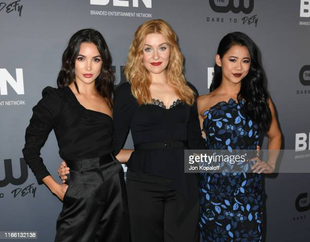 Maddison Jaizani Kennedy McMann and Leah Lewis attend the The CW's Summer 2019 TCA Party sponsored by Branded Entertainment Network at The Beverly...