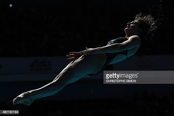 Maddison Keeney competes in the Women's 1m Springboard final diving event at the 2015 FINA World Championships in Kazan on July 28 2015 AFP PHOTO /...