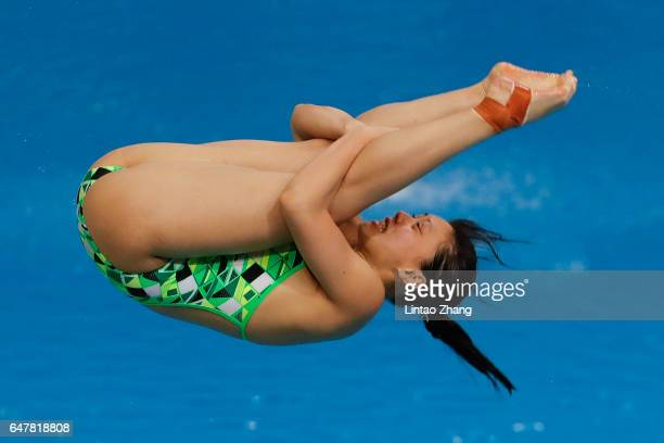 Maddison Keeney of Australia compete in the Women's 3m Springboard final on day two of the FINA/NVC Diving World Series 2017 Beijing Station at the...