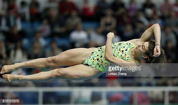 Maddison Keeney of Australia compete in the Women's 3m Springboard Final during day two of the FINA/NVC Diving World Series 2016 Beijing Station at...