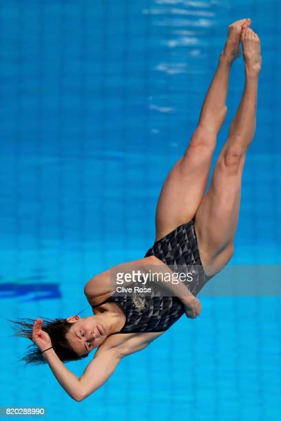 Maddison Keeney of Australia competes during the Women's Diving 3m Springboard final on day eight of the Budapest 2017 FINA World Championships on...