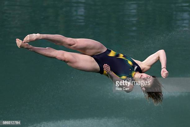 Maddison Keeney of Australia competes in the Women's 3M Springboard semi final on Day 8 of the Rio 2016 Olympic Games at the Maria Lenk Aquatics...
