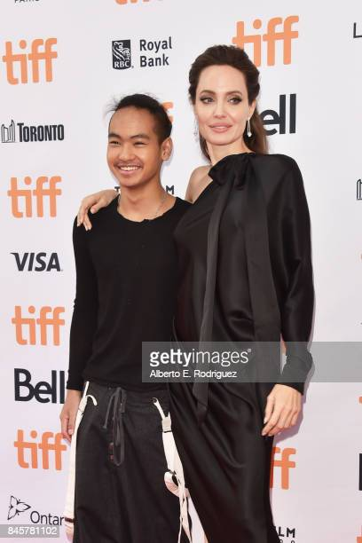 Maddox JoliePitt and Angelina Jolie attend the First They Killed My Father premiere during the 2017 Toronto International Film Festival at Princess...