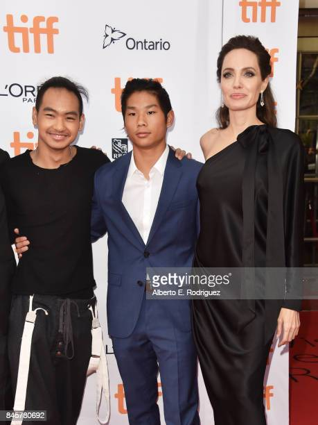Maddox JoliePitt Pax JoliePitt and Angelina Jolie attend the First They Killed My Father premiere during the 2017 Toronto International Film Festival...