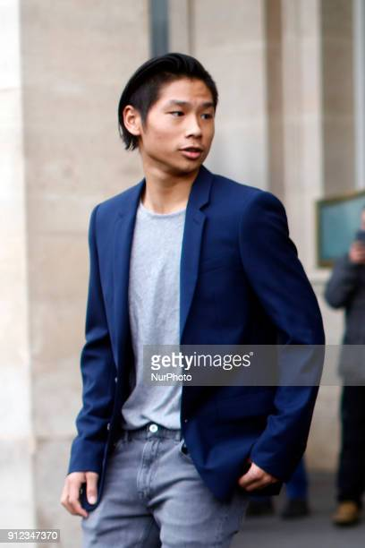 Maddox Pitt son of Angelina Jolie visits the Louvre in Paris France on January 30 2017