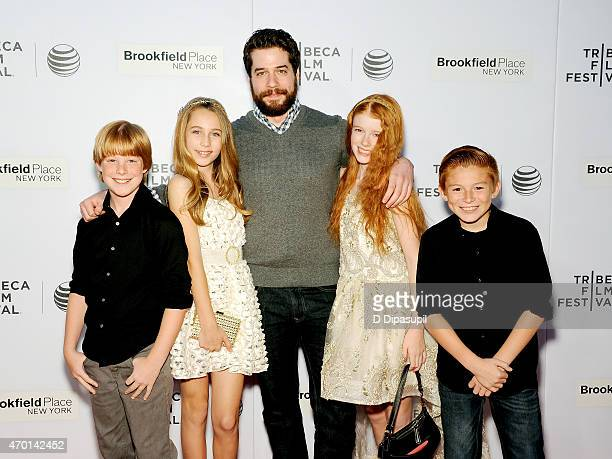 Maddux Berry Eden McCoy Gil Zabarsky Hannah McCloud and Daniel Millsaps attend the premiere of 'Tenured' during the 2015 Tribeca Film Festival at...