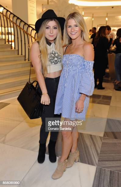 Maddy Hall and Madi Rosenthal attend a Cocktail Event in support of HOLA Heart of Los Angeles hosted by Barneys New York at Barneys New York Beverly...
