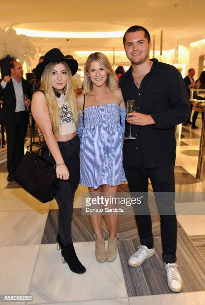 Maddy Hall Madi Rosenthal and Rowan Lord attend a Cocktail Event in support of HOLA Heart of Los Angeles hosted by Barneys New York at Barneys New...