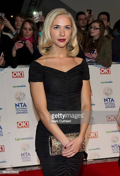Maddy Hill attends the National Television Awards at 02 Arena on January 22 2014 in London England