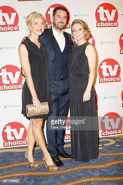 Maddy Hill Danny Dyer and Kellie Bright attend the TV Choice Awards 2015 at Hilton Park Lane on September 7 2015 in London England