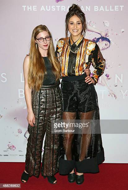 Maddy McCarthy and Victoria Fatorous attends the Australian Ballet's 'The Sleeping Beauty' opening night at Arts Centre Melbourne on September 15...