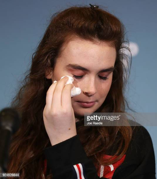 Maddy Wilford speaks to the media at Broward Health North after being shot multiple times during the mass shooting at Marjory Stoneman Douglas High...