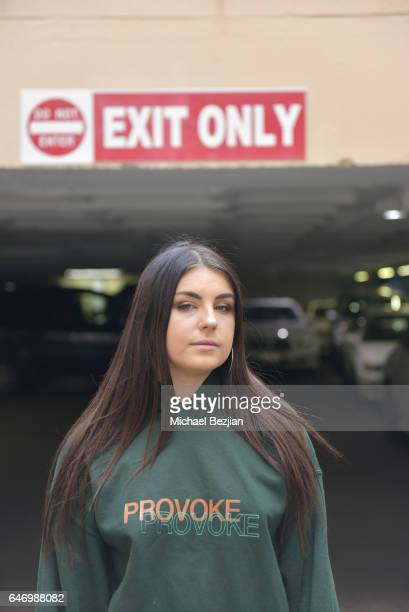 Maddyie Galban poses for portraits at New Faces at the Artists Project on March 1, 2017 in Los Angeles, California.