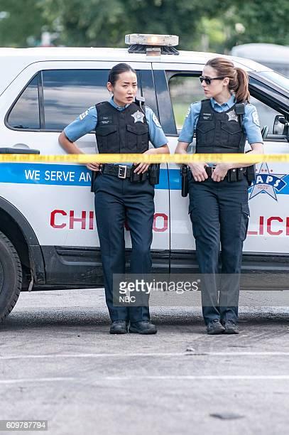 D Made a Wrong Turn Episode 402 Pictured Li Jun Li as Julie Tay Marina Squerciati as Kim Burgess