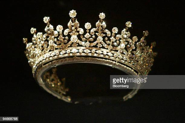 Made by Garrards in 1893 this silver and diamond tiara was a wedding present for the future Queen Mary from the Girls of Great Britain and Ireland...