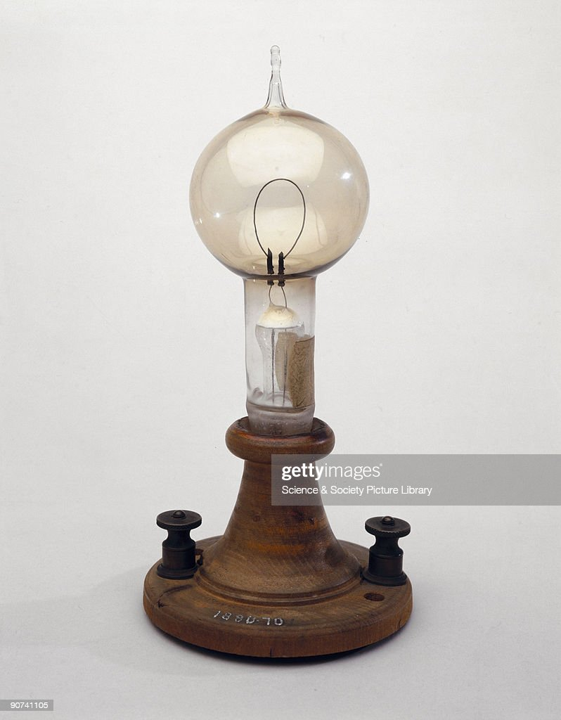 Edisons filament lamp, 1879. Pictures | Getty Images for Electric Lamp Thomas Edison  199fiz