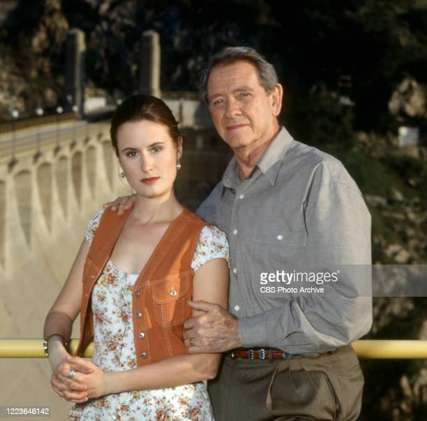 Made for TV movie, DEEP FAMILY SECRETS. Pictured from left is Molly Gross . Richard Crenna . Original broadcast April 15, 1997.
