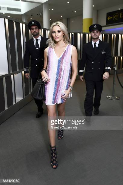 Made in Chelsea star Stephanie Pratt who went to college in San Francisco glows in a photoshoot with British Airways pilots to celebrate the...