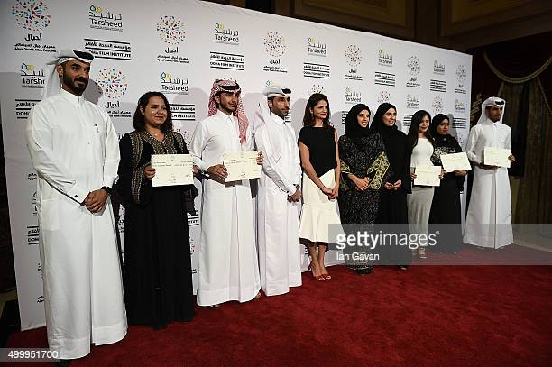 'Made in Qatar' award winners with Ajyal Youth Film Festival Director and Doha Film Institute CEO Fatma Al Remaihi Doha Film Institute Chief...