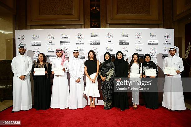 Made in Qatar award winners with Ajyal Youth Film Festival Director and Doha Film Institute CEO Fatma Al RemaihiDoha Film Institute Chief...