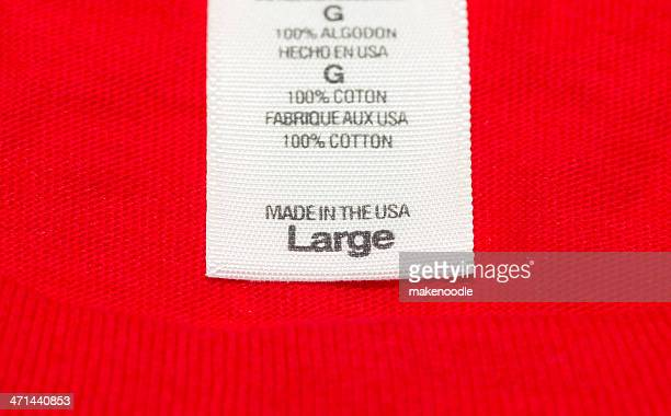 made in the usa clothes label - top garment stock pictures, royalty-free photos & images
