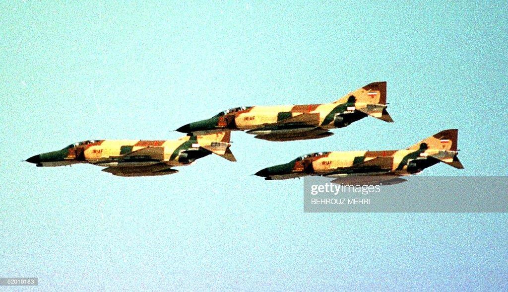 US made Iranian airforce F-4 Phantom jets attack m : News Photo