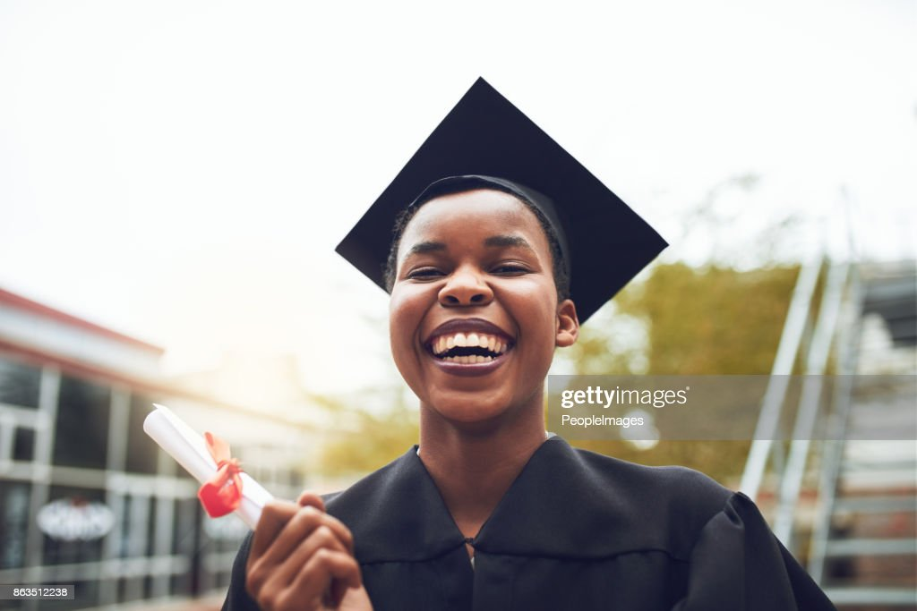I made it because people believed in me : Stock Photo