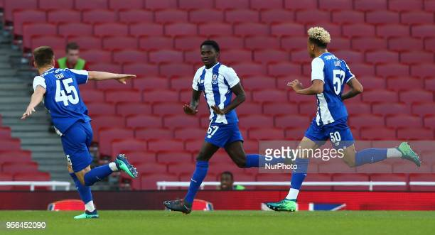 Made Queta of Porto celebrates his goal during Premier League International Cup Final match between Arsenal Under 23 against Porto FC at Emirates...