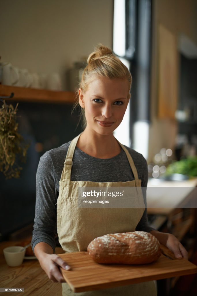 Made with her own hands : Stock Photo
