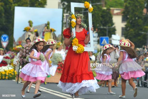 Madeira Flower Festival Parade 2018 in Funchal the capital of Madeira Island The Flower Festival is one of Madeira biggest celebrations and a tribute...