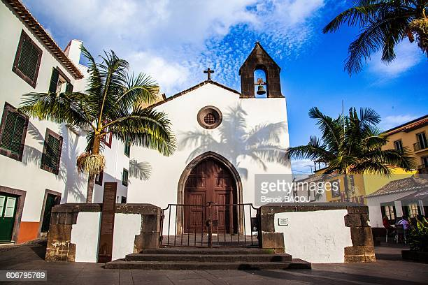 madeira island, santa maria church - madeira island stock photos and pictures