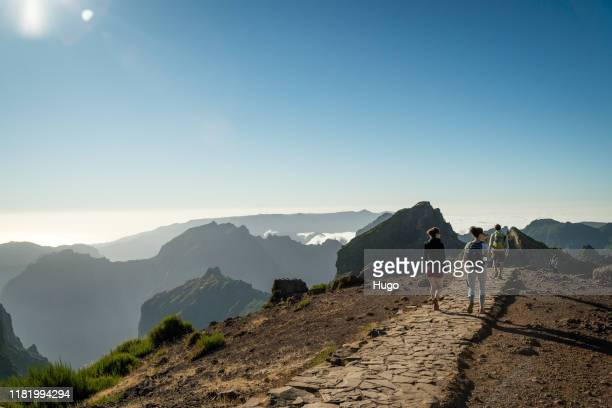madeira pico do ariero hike - lareira stock pictures, royalty-free photos & images