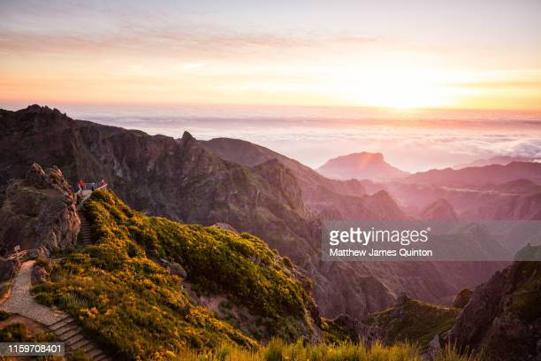 madeira sunrise - lareira stock pictures, royalty-free photos & images