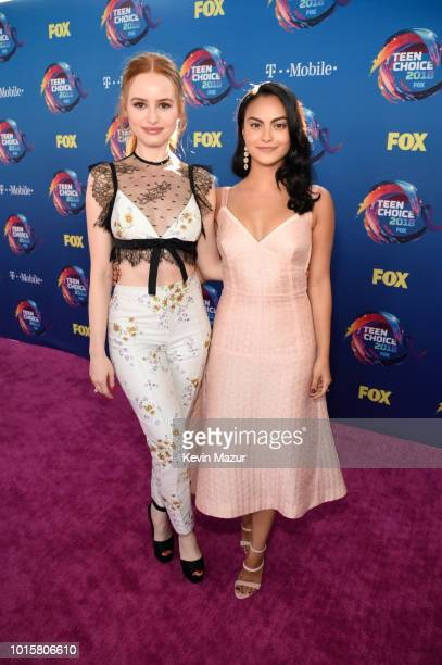 Madelaine Petsch and Camila Mendes attend FOX's Teen Choice Awards at The Forum on August 12 2018 in Inglewood California