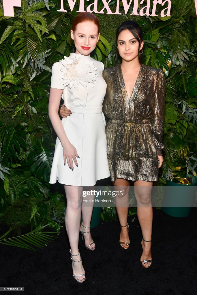 Madelaine Petsch (L) and Camila Mendes attend the Max Mara Celebration for Alexandra Shipp, 2018 Women In Film Max Mara Face Of The Future Award Recipient at Chateau Marmont on June 12, 2018 in Los Angeles, California.