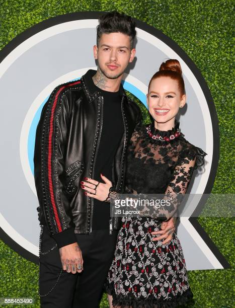 Madelaine Petsch and Travis Mills attend the 2017 GQ Men of The Year Party on December 07 2017 in Los Angeles California