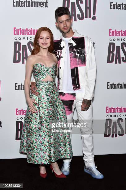 Madelaine Petsch and Travis Mills attends Entertainment Weekly's ComicCon Bash held at FLOAT Hard Rock Hotel San Diego on July 21 2018 in San Diego...