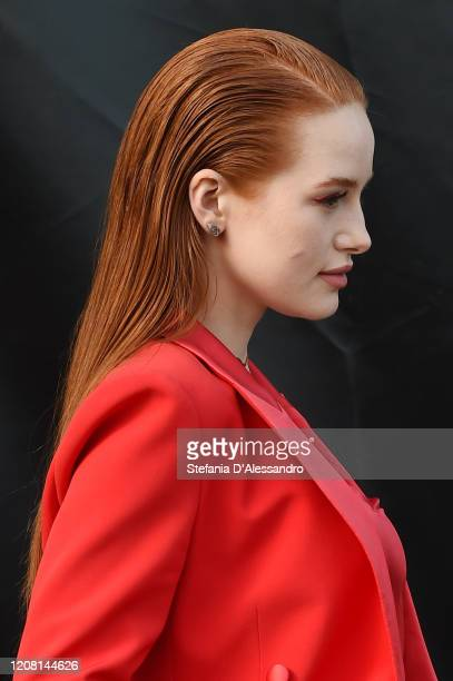 Madelaine Petsch arrives at the Boss fashion show on February 23 2020 in Milan Italy